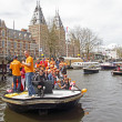 AMSTERDAM, NETHERLANDS - APRIL 30: in orange celebrating — Stock Photo