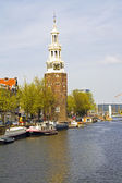 Medieval montelbaanstower in Amsterdam the Netherlands — Stock Photo
