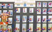 Decorated facades in Amsterdam the Netherlands on occasion — Stock Photo