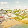 Panoramic view from Carvoeiro in Portugal — Stock Photo