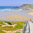 Panorama from Amoreira beach in the Algarve Portugal — Stok fotoğraf