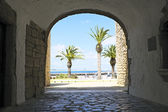 View on Lagos in Portugal from the old castle — Foto Stock