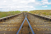 Railroad track in the countryside from Portugal — Stock Photo