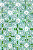 Beautiful traditional tiles with nice green painting from Portug — Stock Photo