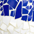 Blue and white tiled wall — Stock Photo