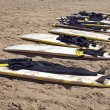Surfboards at the beach — Stock Photo