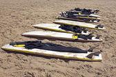 Prkna na pláži — Stock fotografie
