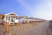 Beach houses at the north sea coast in the Netherlands — Stock Photo