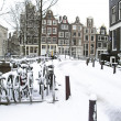 Snowy Amsterdam in Netherlands — Stock Photo #27575281