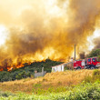 Huge forest fire threatens homes in Portugal — ストック写真