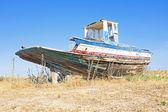 在葡萄牙的老渔民船。 — 图库照片