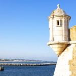 Medieval tower from Fortaleza da Ponta da Bandeira at Lagos — Stock Photo #28995517