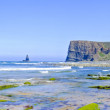 Panorama from rocks and ocean at the westcoast in Portugal — Stock Photo