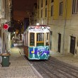Bica tram by night in Lisbon Portugal — Stock Photo #33169409