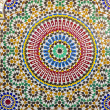 Bright mosaic architectural detail from Maroc — Stock Photo #34824685