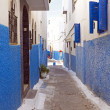 Street of the Kasbah of the Udayas in Rabat — Stock Photo