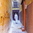 Street in the medina from Fes Morocco — Stock Photo