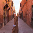 Old man in the medina in Fes on Eid al-Adha.  — Stock Photo