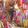 Handcrafts shop at the market in Morocco — Foto de Stock