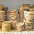 Plates in maroccan pottery — Foto Stock