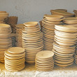 Plates in maroccan pottery — Stock Photo