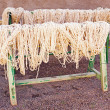 Stock Photo: Wool drying in Morocco