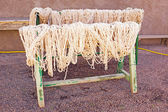 Wool drying in Morocco — Stock Photo