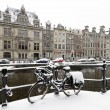 Amsterdam covered with snow in winter in the Netherlands — Stock Photo