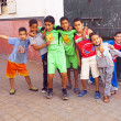Stock Photo: RABAT, MOROCCO - October 15 2013 : Kids in streets on Eid al