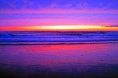 Incrível pôr do sol na costa a oeste em portugal — Foto Stock