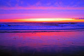 Incredible sunset at the westcoast in Portugal — Stock Photo
