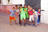 RABAT, MOROCCO - October 15 2013 : Kids in the streets on Eid al — Stock Photo