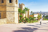 City wall from old Rabat in Morocco Africa — Stock Photo