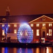 AMSTERDAM, NETHERLANDS - DECEMBER 07 2012: Illuminated Hermitage — Stock Photo