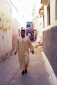 FES, MOROCCO - 15 OCTOBER 2013: Man is dressed up for Eid Al-Adh — Stock Photo