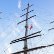 Stock Photo: Three masts fom sailboat