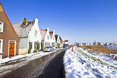 Typical dutch village Durgerdam in winter in the Netherlands — Stock Photo