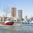 Tugboats in Rotterdam harbor in the Netherlands — Stock Photo #39265029