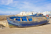 Boats at the harbor from Essaouria Morocco — Stock Photo