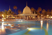 Tropical pool at night — Stock Photo