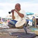Snake charmer cobra dancing — Stock Photo #41669973
