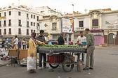 Comerciante está vendendo abacates — Foto Stock