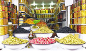 Olives on a market — Stock Photo