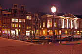 Amsterdam houses by night — Foto de Stock
