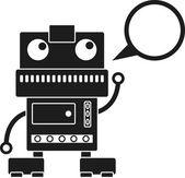 Music Robot — Stock Vector