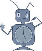 ロボットのクロック — ストックベクタ