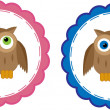 Stock Vector: Owl Babies