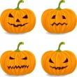 Pumpkins for Halloween — Stock Vector