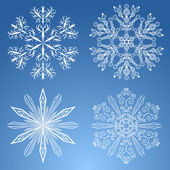 Four snowflakes — Stock Vector