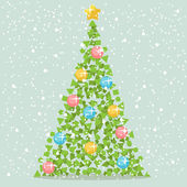 Abstract Christmas Paper Tree — Stock Vector